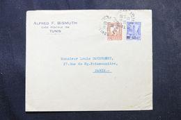 TUNISIE - Enveloppe à Entête De Tunis Pour Paris En 1930, Affranchissement Plaisant -  L 63594 - Covers & Documents