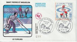 Saint Pierre Et Miquelon FDC 1998 Curling 670 - FDC