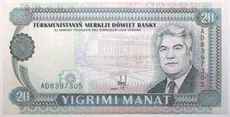 Turkménistan - 20 Manat - 1993 - PICK 4a - NEUF - Turkménistan