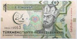 Turkménistan - 1 Manat - 2017 - PICK 35a - NEUF - Turkménistan
