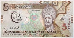 Turkménistan - 5 Manat - 2017 - PICK 36a - NEUF - Turkménistan