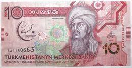 Turkménistan - 10 Manat - 2017 - PICK 37a - NEUF - Turkménistan
