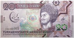 Turkménistan - 20 Manat - 2017 - PICK 38a - NEUF - Turkménistan
