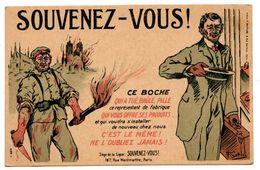 Souvenez Vous Ce Boche Voyagé En 1917   Scans Recto/verso - War 1914-18