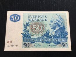 SWEDEN 50 KRONOR BANKNOTE 1984 AU P-53d - Suède