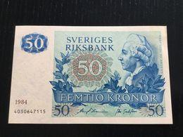 SWEDEN 50 KRONOR BANKNOTE 1984 AU P-53d - Sweden