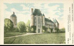 28 - Auneau : Le Château (côté Nord) - La Poterne - La Tour - History
