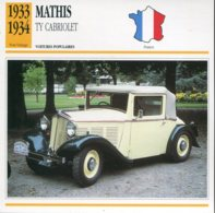 France 1933-34 - Mathis TY Cabriolet - Coches