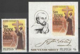 Philippines - YT 1785 + BF 33 ** MNH - 1991 - San Juan De La Cruz - Philippines