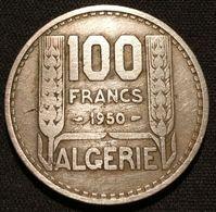 ALGERIE - ALGERIA - 100 FRANCS 1950 - KM 93 - TURIN - REPUBLIQUE FRANÇAISE - Algerien
