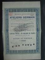 Action De 1898 ATELIERS GERMAIN à MONCEAU-SUR-SAMBRE - Fabrication D'automobiles, Tramways, Matériel De Chemin De Fer... - Auto's