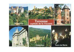 Cpm - 19 - TURENNE COLLONGES LA ROUGE CUREMONTE POMPADOUR VENTADOUR TOURS DE MERLE - Frankreich