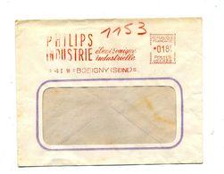 Lettre Flamme Ema Bobigny Philips Industrie - EMA (Printer Machine)