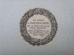 Ex-libris Typographique Illustré XIXème - PAYS BAS - C. VAN HULTHEM - Ex-libris