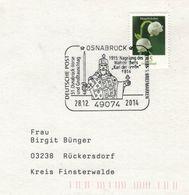 49074 Osnabrück - Nagelung Des Wahrzeichens - Karl Der Grosse Mit Schwert & Reichsapfel 2014 - Maiglöckchen - Célébrités