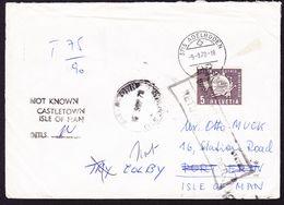 1978 UPU, 5 Rp Dienstmarke Auf Brief Mit Stempel Adelboden Nach Insel Man. Stempel *not Known Castletown Isle Of Man* - Dienstzegels