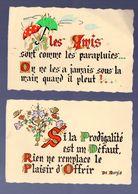 Lot De 2 Demi Calendriers /cartes De Voeux 1982 Et 1983 (1ers Semestres)  (PPP23111) - Calendriers