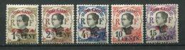 18434 TCH'ONG-K'ING N°82/4, 86/7 * Timbres D'Indochine  De 1919 Surchargés   1919  B/TB - Tchong-King (1902-1922)