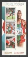 Burundi MNH Sheet 2 SUMMER OLYMPICS ATLANTA 1996 VENUSTE NIYONGABO - Summer 1996: Atlanta