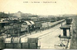 N°1101 R -cpa Lyon -La Mouche -depôt Du P.L.M. - Bahnhöfe Mit Zügen