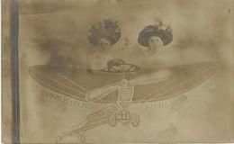 """Photo Montage - Départ De L""""Exposition De CHARLEROI 1911 - Aviation"""