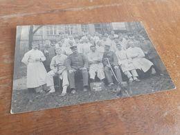 ERINNERUNMG AN DIE KRIEGSSCHULE - METZ - 1914 - SOLDATEN- OFFIZIERE - AERZTE - KRANKENSCHWESTER - HUND - Weltkrieg 1914-18