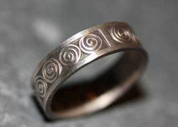 """Bague Bretonne """"motifs Celtiques"""" Bretagne Argent 800 T54 Anello Anillo - Celtic Silver Ring - Silberring - Bagues"""