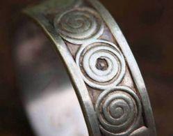 """Bague Bretonne Années 60 """"motifs Celtiques"""" Argent 800 T55 Anello Anillo - Celtic Silver Ring - Silberring - Bretagne - Bagues"""