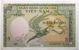 Viet-Nam Du Sud - 5 Dong - 1955 - PICK 2a - SPL - Viêt-Nam