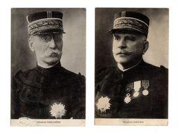Lot 2 Portraits Gals GALLIENI Et JOFFRE Cachets Du 5è Régiment Du Génie   Scans Recto/verso - War 1914-18