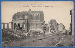 RARE CPA 62 LAVENTIE - La Rue D'Enfer Et Les Anciennes Ecoles - Guerre Mondiale 1914-18 - WWI - Laventie