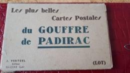 CPA 46 Lot Les 10 Plus Belles Cartes Postales Du Gouffre De Padirac Carnet Complet Vertuel Editeur St Cere - Padirac