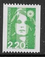 Maury 2716a - 2,20 Numéro Rouge Au Verso - ** - 1989-96 Maríanne Du Bicentenaire