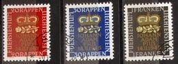 LIECHTENSTEIN 1945: Geburt Erbprinz Naissance Prince Héritier Zu 207-209 Mi 240-242 Yv 215-217 Mit Eck-o (Zu CHF 12.00) - Liechtenstein