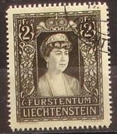 Liechtenstein 1947: Trauermarke Fürstin Elsa (1875-1947) Zu 216 Mi 256 Yv 231 Mit Stempel Vom 15.XII.47 (Zu CHF 20.00) - Liechtenstein