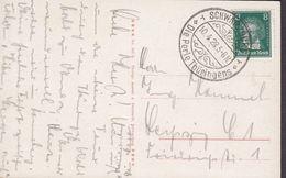 Deutsches Reich PPC Blick Vom Trippstein No. 305H A. Bernhardt, Schwarzburg 'Die Perle Thüringens' SCHWARZBURG 1928 - Brieven En Documenten