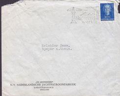 NIEDERLANDSCHE JACHTPATROONFABRIEK Slogan Flamme 'Nederland Werkt' 's-HERTOGENBOSCH 1951? Cover Brief SPEYER - Period 1949-1980 (Juliana)