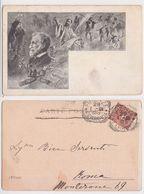Giuseppe Verdi - L'Italia, Illustrata, Illustree, Portrait, Ritratto, Opere, M. B. Vera, Viaggiata 1901 - Musique Et Musiciens