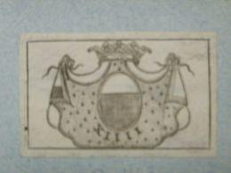 Ex-libris Héraldique Illustré XVIIIème - PAYS BAS - VILAIN XIIII - Ex Libris