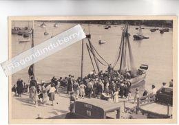 PHOTO - 29 - DOUARNENEZ - RETOUR De PECHE Bateau D 367 Et CAMION Inscription FINISTERE - Lot De 2 Phot Format CPA - Douarnenez