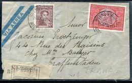 ARGENTINE - N° 395 & 501 / LR AVION DE BUENOS AIRES LE 28/9/1950 POUR GRAFFENSTADEN - TB - Argentina