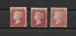 GRANDE BRETAGNE -3 TRES BEAUX VIEUX TIMBRES NEUFS * N°26 -VOIR PLANCHE  -DE 1858-64 -SCAN DU VERSO.j - 1840-1901 (Victoria)