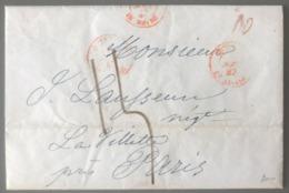 Lettre De New York 23 Juillet 1847 - TAD OUTREMER LE HAVRE - (B2920) - 1801-1848: Vorläufer XIX