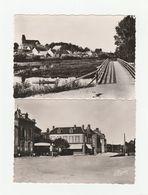 4 CPSM:MARCILLY SUR SEINE (51) PONT NOIR,HÔTEL RESTAURANT QUAI DE SEINE,PONT SUR LA SEINE,QUAI DE SEINE - France