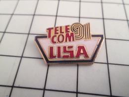 616c Pin's Pins / Rare Et De Belle Qualité !!! FRANCE TELECOM / TELECOM 91 USA - France Telecom