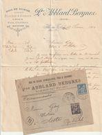 France Lettre Au Type Sage Avec En Tete Abblard Bergnes Ille Sur Tet Pyrénée Oriantales - 1877-1920: Semi Modern Period