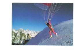 Cpm - Le Parapente - Parachute - JF CAUSSE / Ski Slide - PP 9 - 1989 - Paracaidismo