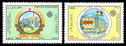 Afghanistan, 1983, World Telecommunication Year, ITU, United Nations, MNH, Michel 1306-1307 - Afganistán