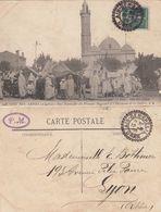 ALGERIE CP 1908 AIN BEN KHELIL FACTEUR BOITIER T 84 SUR 5C SEMEUSE INDICE 9 COTE 60 EUROS - Postmark Collection (Covers)