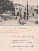 ALGERIE CP 1908 AIN BEN KHELIL FACTEUR BOITIER T 84 SUR 1C BLANC INDICE 9  COTE 60 EUROS - Postmark Collection (Covers)